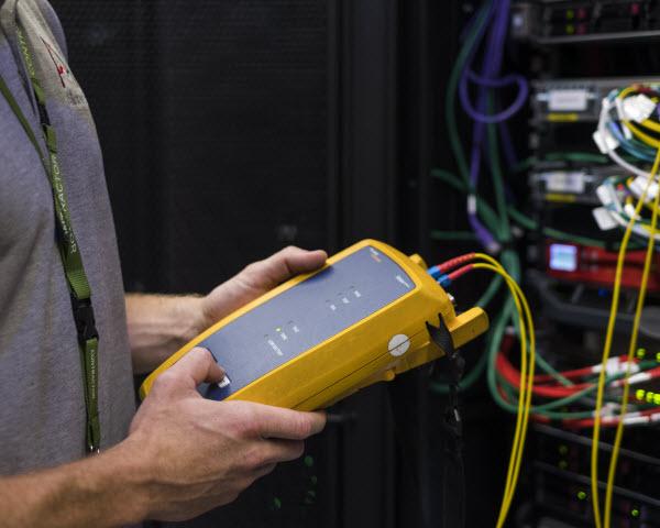 Employee installing SD-WAN