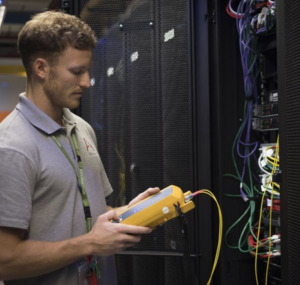 An IT Guy checking the web server